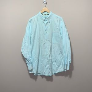 Club Room Button Down Shirt Green Mens XLarge